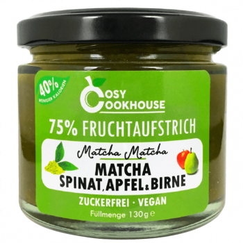 75% fruit spread - Matcha, spinach, apple & pear